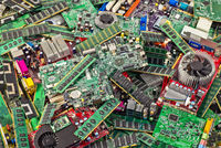 Pile of rubbish from computer boards