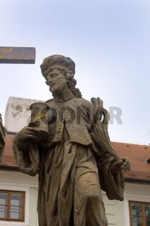 Jesus statue on the Charles bridge, Prague