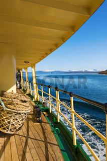 Passenger ship in a Norwegian fjord