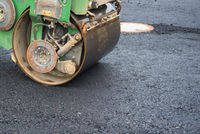 compactor during road works