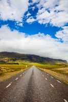 The main Iceland highway in Tundra