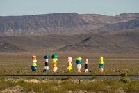 Seven Magic Mountains in the desert near Las Vegas