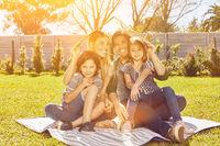Versicherung für Familie mit Haus als Konzept