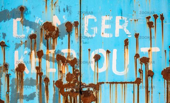 Rusty Danger Keep Out Doors