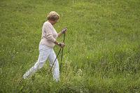 Senior while walking