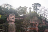 Leshan giant buddha in Sichuan China