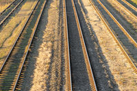 Railway tracks,view from above
