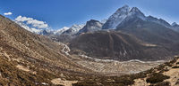 Village Dingboche at Mountain Ama Dablam