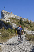 Mountain bike tour on the Vezzena summit