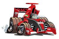 Vector cartoon sport race car isolated on white
