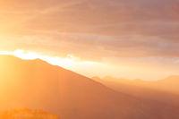Mountains on sunset