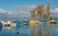 Boat harbour Romanshorn, Canton Thurgau, Switzerland