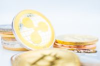 Bunch of Crypto currency coins with focus on XRP Ripple