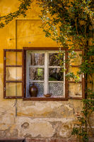Romantic corners of the old house with window