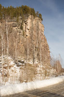 Nature monument of the Altai Republic.Externally, the rock resembles a Church iconostasis, is famous mainly due to the bas-relief of Lenin, carved on it.