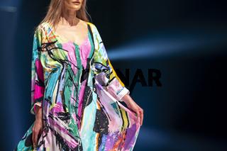Fashion week model runway
