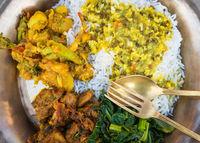 Traditional Nepali dal bhat