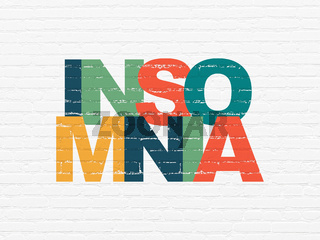 Healthcare concept: Insomnia on wall background
