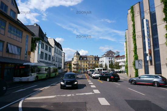 Road traffic in the city center of Giessen