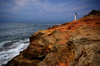 Lighthouse at cape Tarkhankut in Crimea Ukraine