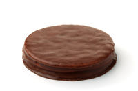 Round chocolate cookie