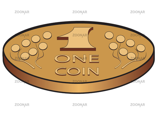 One metal coin