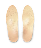 Top view of leather orthopedic insoles