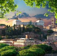 Sunset over Vittoriano