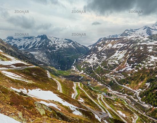 Alpine mountain road, Grimsel Pass, Switzerland