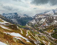 Alpine mountain road, Grimsel Pass, Switzerland