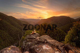 Watching sunsets in Blue Mountains
