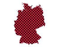Karte von Deutschland in Schachbrettmuster - Map of Germany in checkerboard pattern