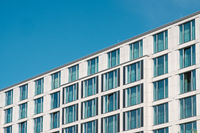 window facade of modern hotel  building  -real estate exterior,