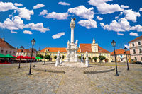 Holy trinity square in Tvrdja historic town of Osijek