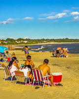 People at Beach, Canelones, Uruguay