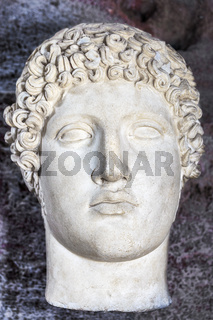 Head Of Hermes, Side Museum, Side, Turkey