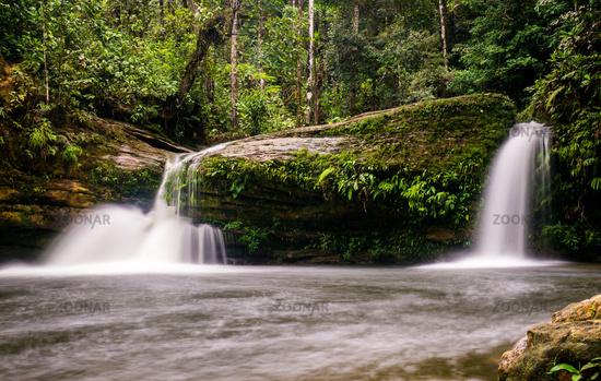 Smallwaterfall at Fin del Mundo Waterfall in Mocoa, Colombia