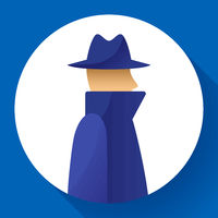 Anonymity concept, spy, detective, agent, anonym in coat and hat icon, anonymous, vector illustration.