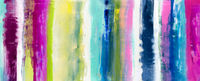abstract mixed media banner, stripes, colorful, painting, gradient wiped