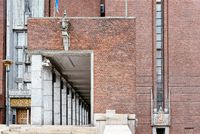Outdoor view of Oslo City Hall in Norway