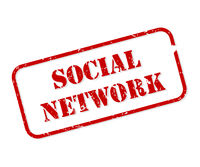 Social Network Rubber Stamp Vector