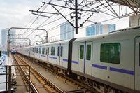 Shanghai metro train underground China