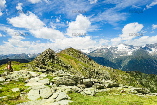 The Speikboden summit, Ahrntal near Sand in Taufers, South Tyrol