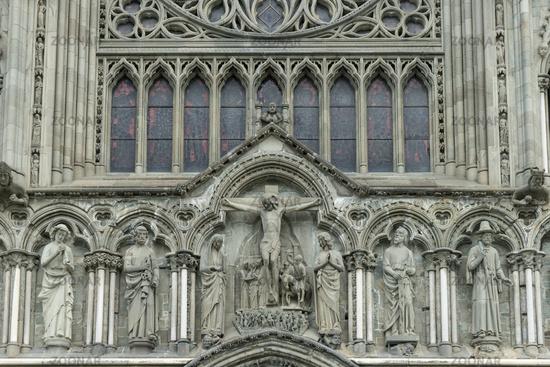 West Facade of Nidaros Cathedral in Trondheim