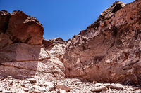 walking in the desert in Chile