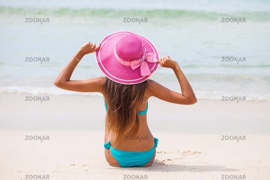 Travel woman on beach