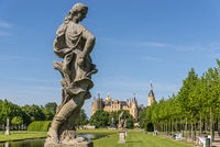 sculpture, palace gardens, Schwerin castle, Schwerin, Mecklenburg-Western Pomerania, Germany, Europe