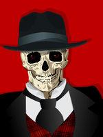 Fancy gangster skull