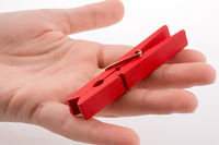 Clothespin in hand