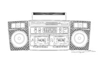 Boombox sketch